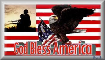 God bless the USA graphic by Ruby Beloz