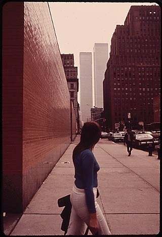 Looking South to the World Trade Center National Archive Photo
