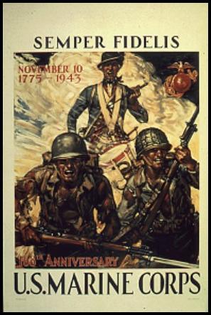 SEMPER FIDELIS US MARINE CORPS, 1941-1945